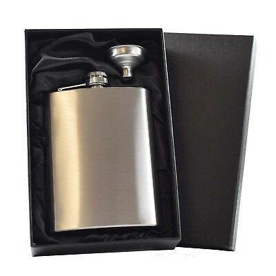 8oz Stainless Steel Hip Flask  Usher/Best Man Personalised And Gift Box ENGRAVED