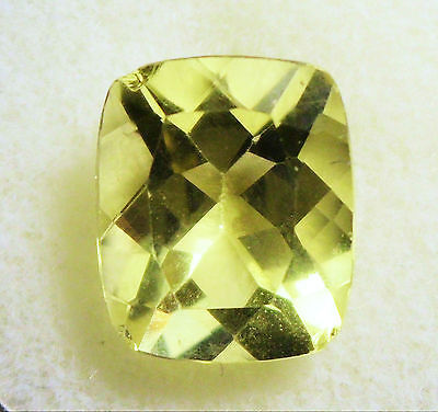 VERY NICE 12 x 10 mm CUSHION CUT 5.18 cts LEMON QUARTZ BRAZIL # 7