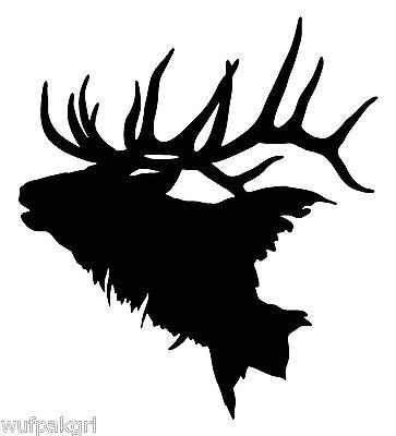 Elk Vinyl Hunting Decal 9724