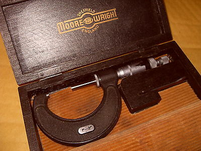 "Moore & Wright No.966 1-2"" Micrometer With Thimble Clip - As Photo."