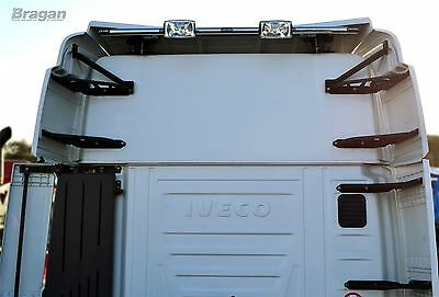 Iveco Stralis Truck Stainless Steel Rear Roof Light Top Bar + LED