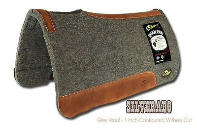 The Silverado Natural Wool Saddle Pad  by Southwestern Equine - Contoured Grey