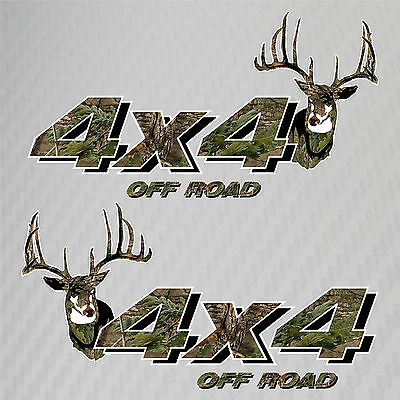 4x4 Truck Off Road Hunting Deer Camo Decals Ford Chevy GMC Dodge Toyota