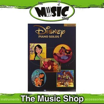 New Disney Piano Solos Music Book - Features 14 Disney Hits!