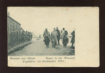 Greece WW1 Expedition des Dardanelles 1915 Honour to the wounded PPC
