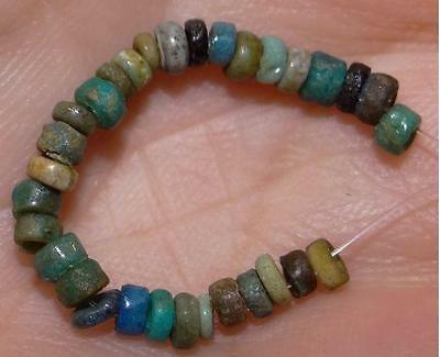 30 Ancient Egyptian Faience Mummy Beads, 2500+Years Old, 2-3mm, #M239