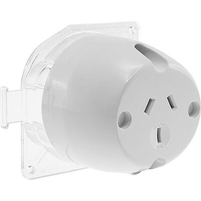1 xClipsal 413 White Surface Socket Plug Base 10A Back wired suit LED DownLights