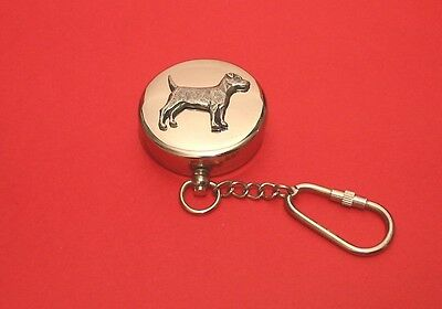 Patterdale Terrier Motif Working Chrome Compass Father Mother Pattedale Dog Gift