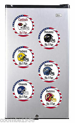 American Football Teams High Gloss Round Fridge Magnet