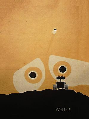 wall-E Art print movie film retro abstract   A3 canvas poster PAINTING