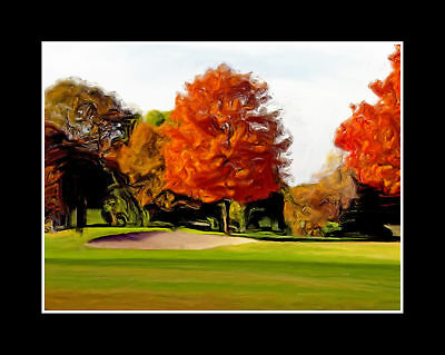 """Matted 8x10 Metallic """"PAINTED GOLF COURSE BUNKER""""  Wall Art Photograph (SME) *"""