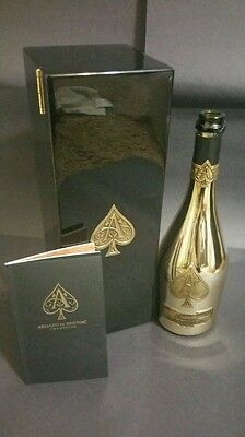 Ace of spades (Armand de brignac) brut gold champagne bottle with gift box