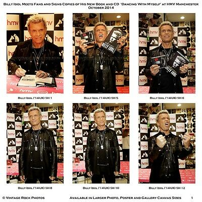 Billy Idol Photos 4x6 inch Lot Set of 18 Pro Prints '14 UK Book Signing Candid S