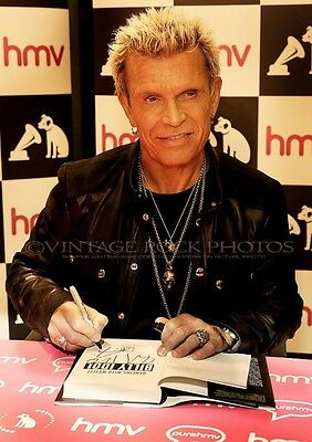 Billy Idol Photo 8x12 or 8x10 inch Pro Lab Print '14 UK Book Signing Candid SH1