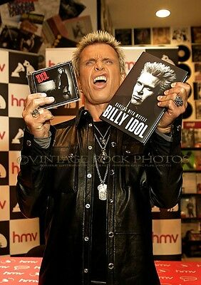 Billy Idol Photo 8x12 or 8x10 inch Pro Lab Print '14 UK Book Signing Candid SH5