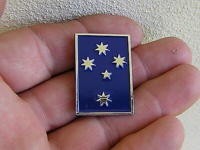 ~ SOUTHERN CROSS VEST PIN Badge Blue HIGH QUALITY Bike Fit HARLEY-DAVIDSON Lapel