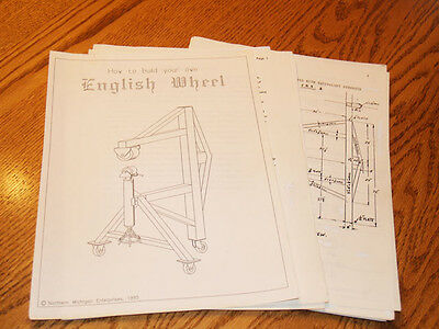 English Wheel plans, EAA, Auto Restoration, sheet metal fabrication