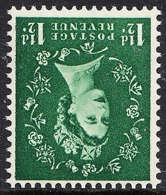 QEII 1952-4 1½d Green Tudor Inverted Watermark Wilding Definitive SG517Wi UnMint