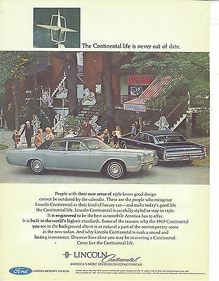 Lincoln Continental Vintage 1967 Print Ad
