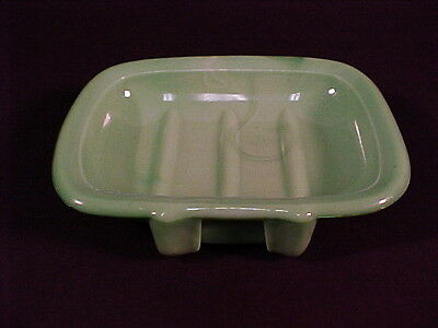 Jade Green Westite Soap Dish / Westite Glass Co