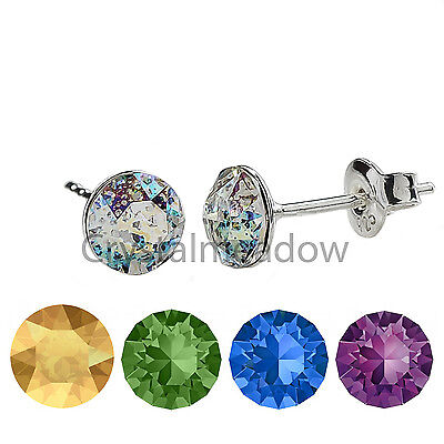 925 Sterling Silver Stud Earrings *Xirius* Genuine Crystals From Swarovski®