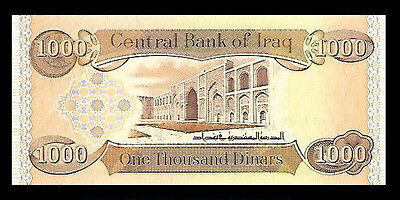 1,000 Iraqi Dinar 1000 Iraq  Unc. Lot of 1 - From A Bundle -  Only 59 Available