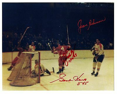 Gordie Howe-Record breaking Goal #545 (No. 6 of the Set) w/Jean Beliveau-WOW!!!