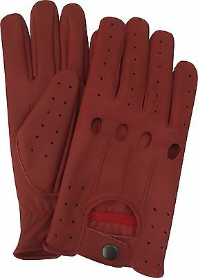 Real Soft Sheep Leather Men's Top Quality Driving Gloves Stylish Fashion