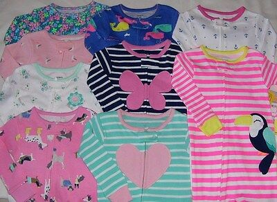 Carter's Baby Girl Cotton Footed Blanket Sleeper Pajamas Jammies 12M-24M 2T-5T