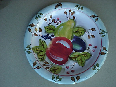 "Heritage Black Forest Fruits 10.5"" Dinner Plate with Stickers"