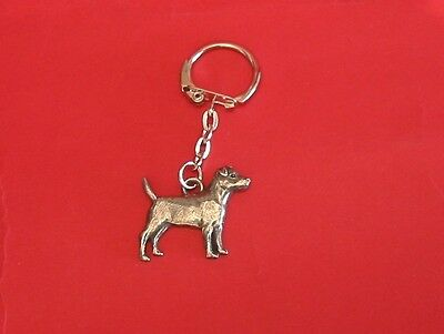 Patterdale Terrier Dog Pewter Key Ring Vet Mum Dad Xmas Gift NEW Free Pouch