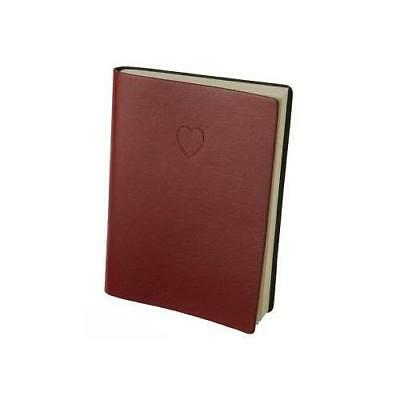 Red Embossed Heart Writing Journal - Lined Pages New