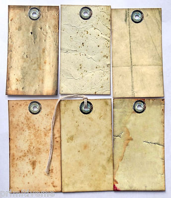 Hang Tags  PRIMITIVE GRUNGY OLD PAPER MIXED TAGS #38  Gift Tags