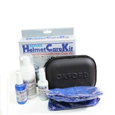 Oxford Motorcycle Helmet Visor Cleaner Anti Fog Spray Internal Sanitiser Kit