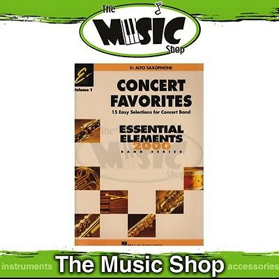 New Essential Elements Concert Favourites 1 for E Flat Alto Saxophone Song Book