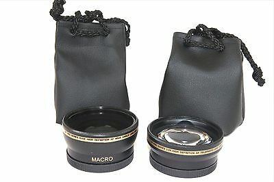 Pro HD Wide Angle & Telephoto Lens Set (2Pc Lens Kit) for Canon Powershot G1 X