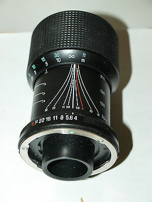 GENUINE 70-210mm F4-5.6 TAMRON BRAND ADAPTALL 2 ONE TOUCH TELEPHOTO ZOOM LENS
