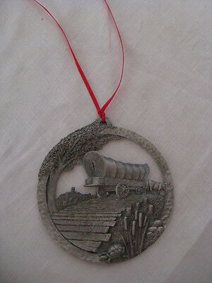 CEDARBURG, OZAUKEE COUNTY WISCONSIN PEWTER ORNAMENT 6TH IN SERIES