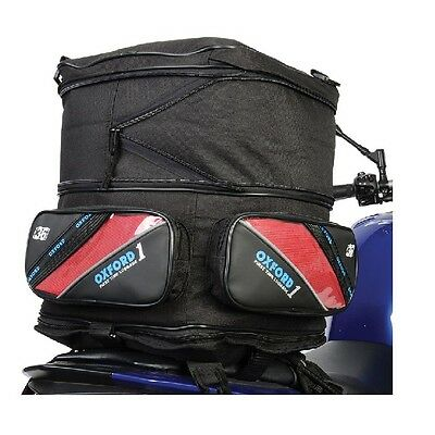 OXFORD Motorcycle Motorbike 36L Expandable Tail Pack Luggage Black (426)