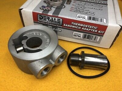US made FORD inc FALCON Thermostatic oil cooler adapter sandwich plate M22x1.5