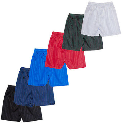 Shadow Stripe Gym Sports Games School PE Pack Of 2 Shorts Unisex 2-16 Years