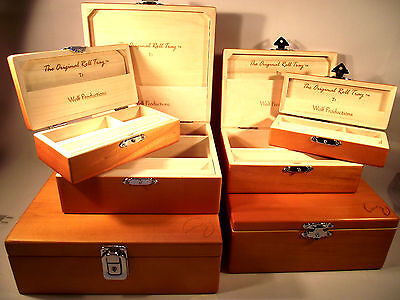 FULLY LOADED Deluxe WOLF PRODUCTION ROLLING BOXES BOX wood stash smoker smoking