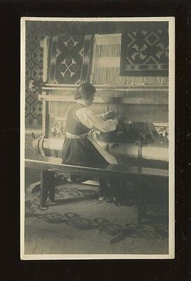 Norway Social History Cottage Industry WEAVING RP PPC c1900/10s?