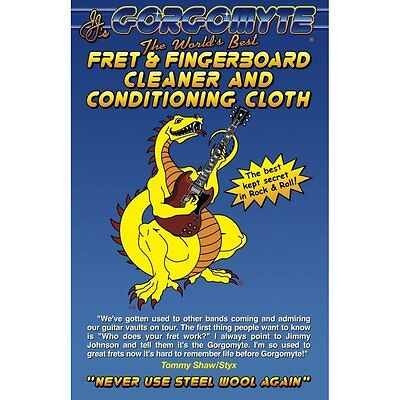 Gorgomyte Guitar & Bass Fret & Fingerboard Cleaner with Conditioning Cloth Care