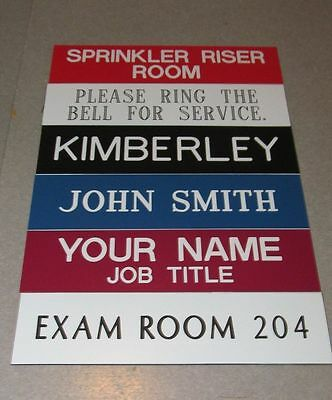 """Custom Engraved Personalized Plastic Desk or Wall Name Plates : 2""""x8""""  Best Deal"""