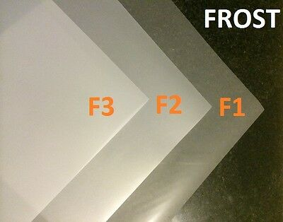 "3 X Frost Diffusion White Lighting Filter Gel Sheets 24"" x 24"" F1 F2 F3 Gel Pack"