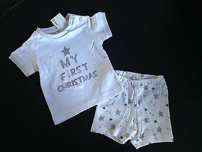 BNWT Baby Boys or Girls 000 Cute Target My First Christmas Summer Pyjamas Set