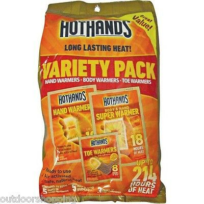 Hot Hands Body Variety Pack - Hand, Body & Toe Warmers, Up 214 Hours Of Heat