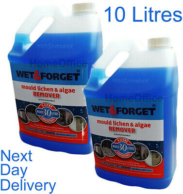 2 x 5L WET AND FORGET MOULD, ALGAE AND LICHEN REMOVAL Wet&Forget