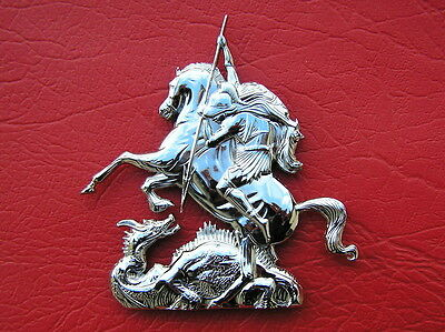 ST GEORGE & THE DRAGONS METAL CAR BADGE * NEW High Quality Emblem suit Holden